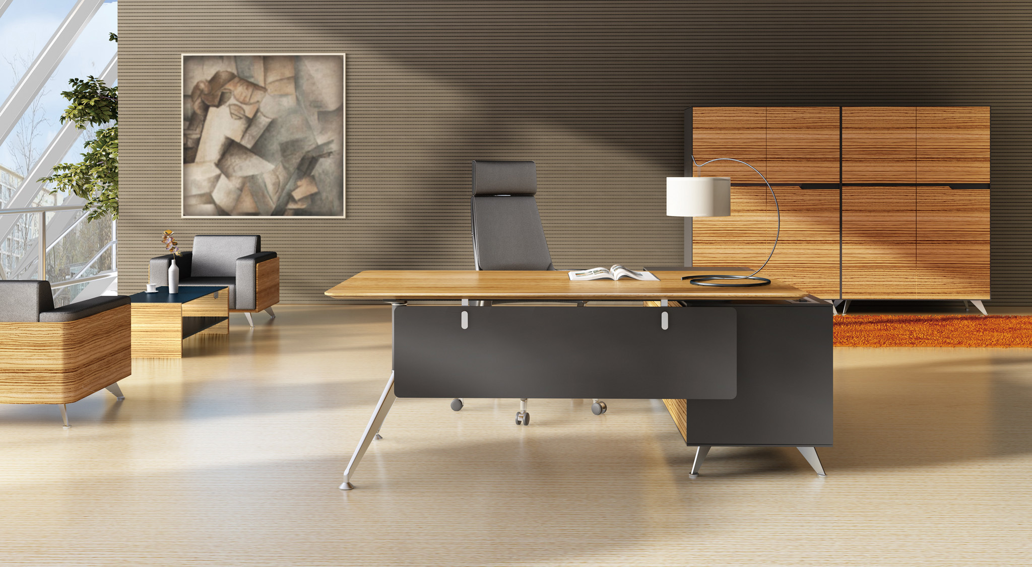 timber office furniture. DTC Damping Hinge, Timber Veneer Top, Shark Nose Edging, Aluminium Feet. Buffet Comes With 2 Drawers \u0026 Doors, Soft Closing, Lockable Drawers. Office Furniture