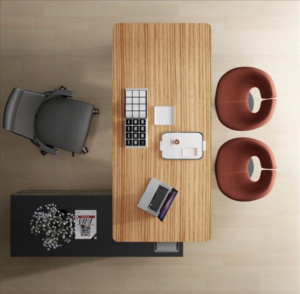 Novara Desk with Return