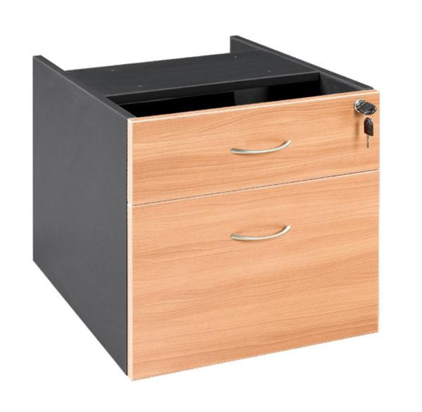 Pedestal fixed 1 drawer plus 1 file Desk