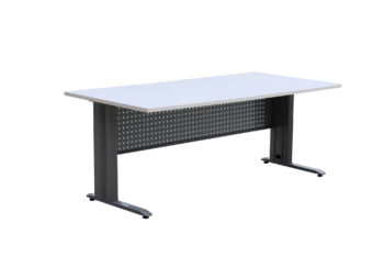 Metal desk frame