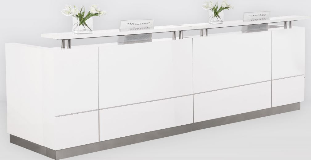 Hugo Plus Gloss White Reception Counter General Office
